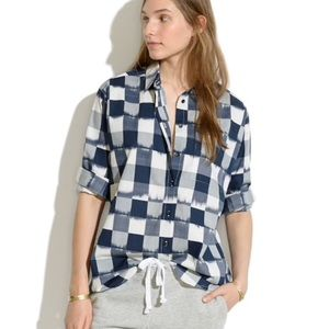 Madewell oversized plaid button down